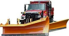 Municipal Snow Plow with Wing Plow and Salt Spreader for snow & ice control